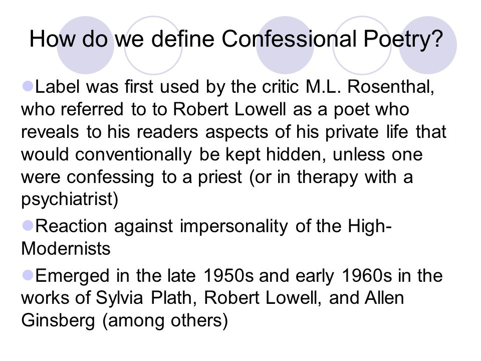How do we define Confessional Poetry
