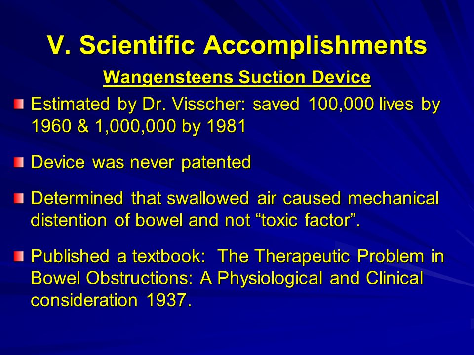 V. Scientific Accomplishments