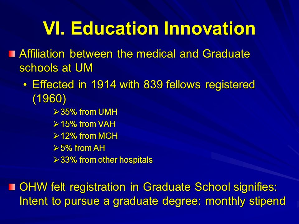 VI. Education Innovation