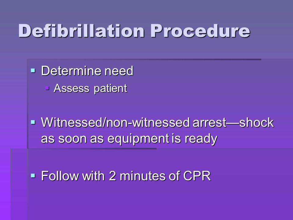 Defibrillation Procedure