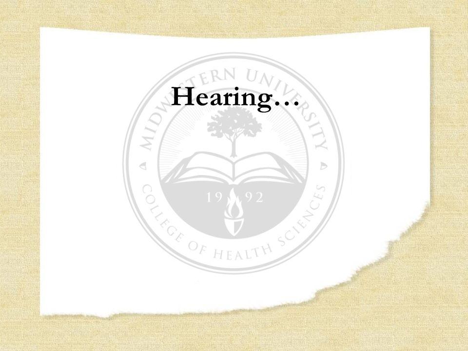 Hearing…