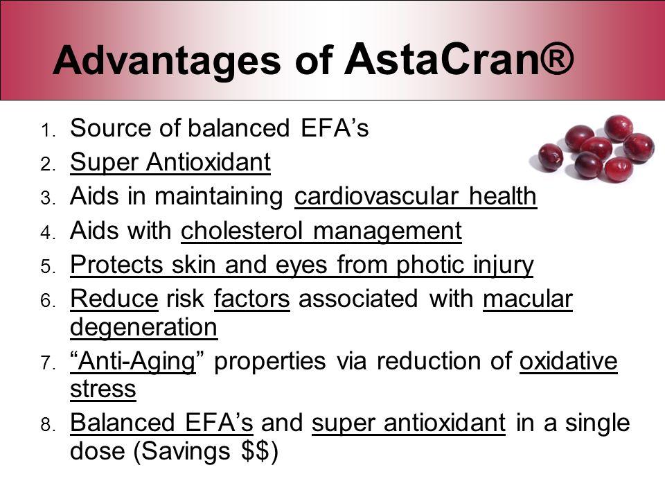 Advantages of AstaCran®