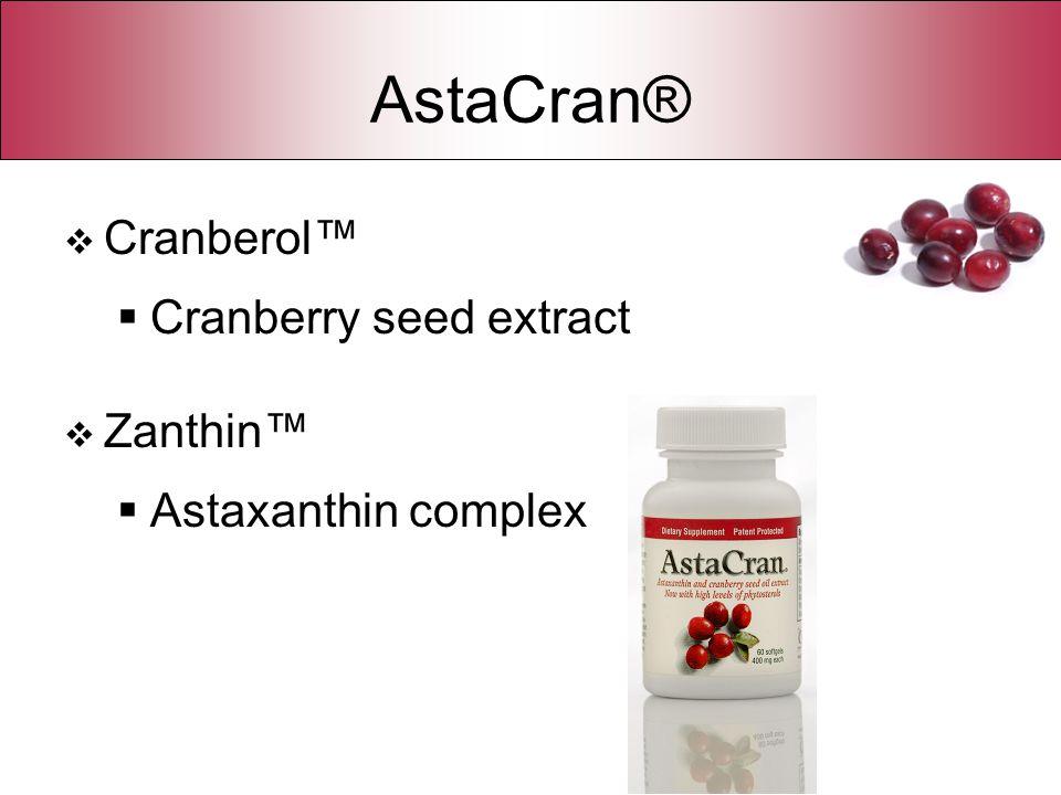AstaCran® Cranberol™ Cranberry seed extract Zanthin™