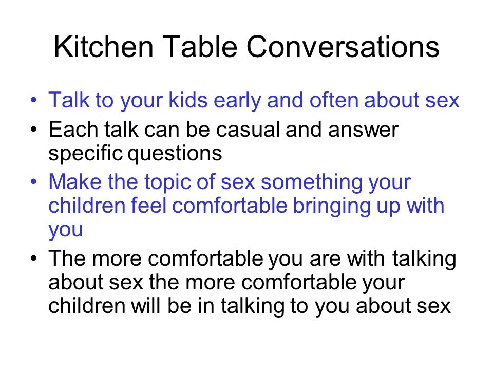 Kitchen Table Conversations