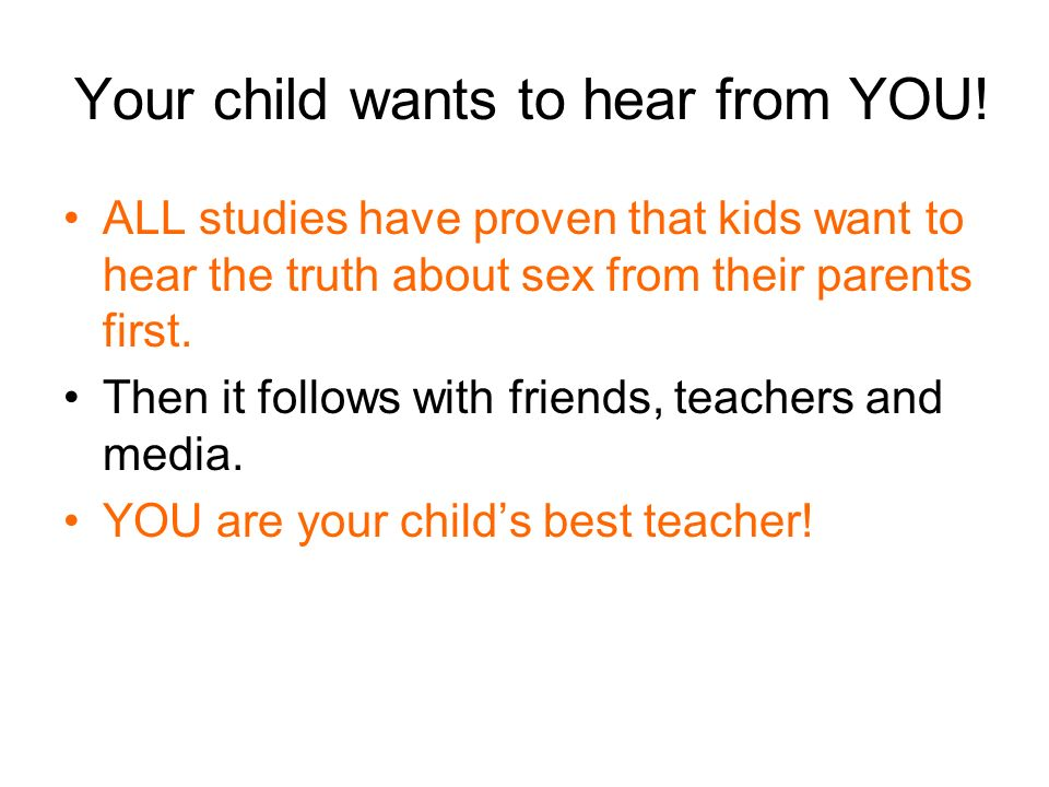 Your child wants to hear from YOU!