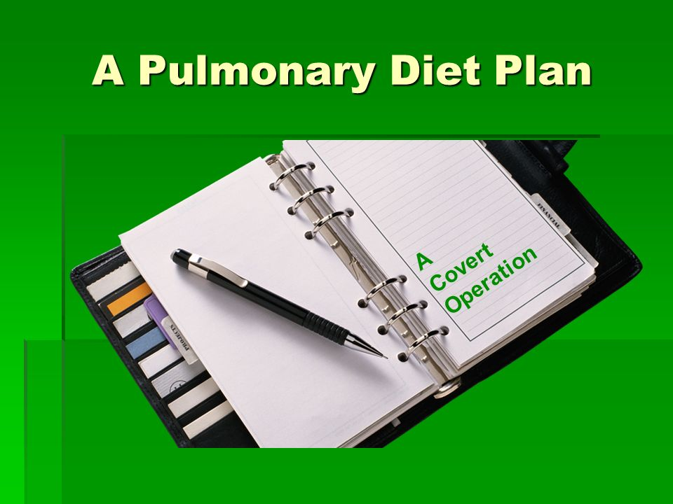 A Pulmonary Diet Plan Covert A Operation