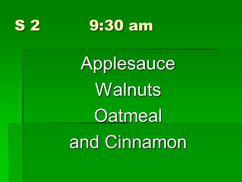 Applesauce Walnuts Oatmeal and Cinnamon