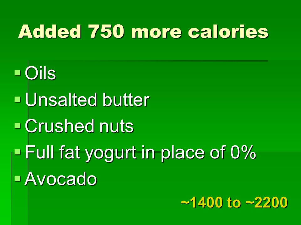 Full fat yogurt in place of 0% Avocado