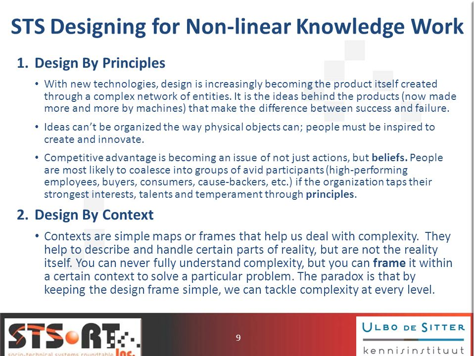 STS Designing for Non-linear Knowledge Work