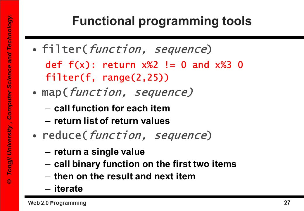 Functional programming tools