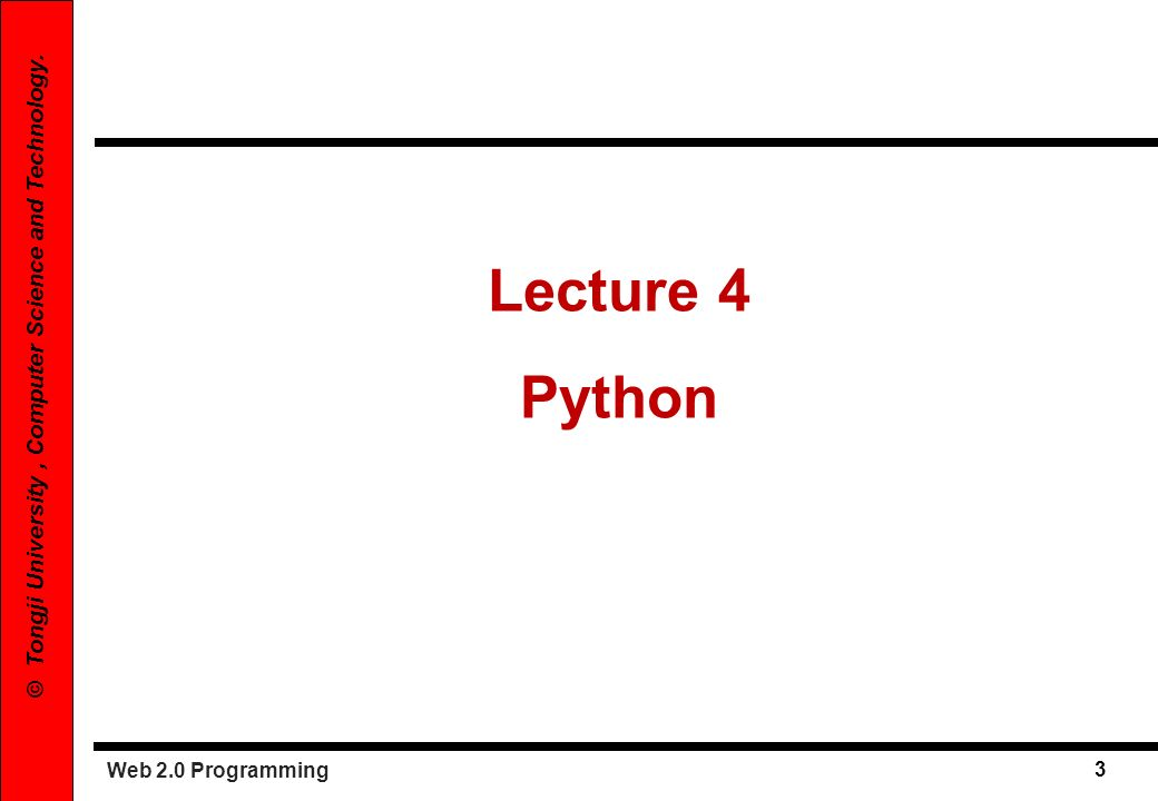 Lecture 4 Python