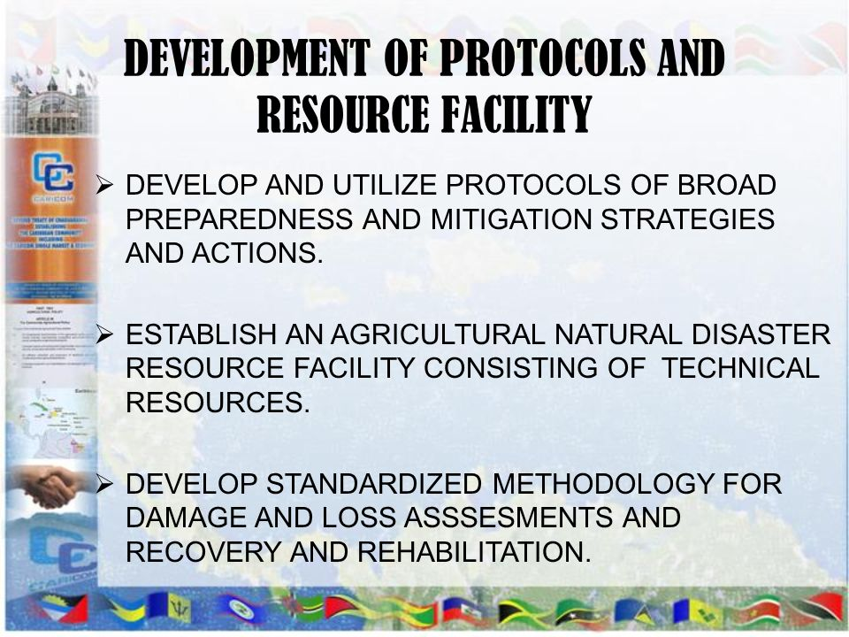 DEVELOPMENT OF PROTOCOLS AND RESOURCE FACILITY