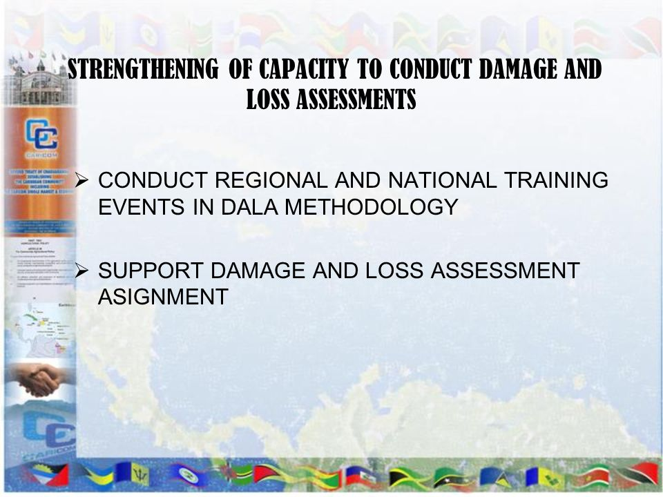 STRENGTHENING OF CAPACITY TO CONDUCT DAMAGE AND LOSS ASSESSMENTS