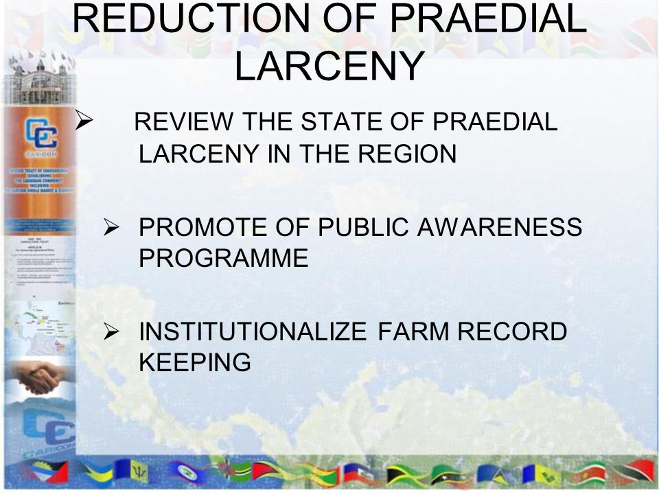 REDUCTION OF PRAEDIAL LARCENY