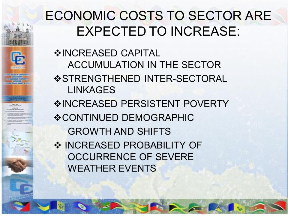 ECONOMIC COSTS TO SECTOR ARE EXPECTED TO INCREASE: