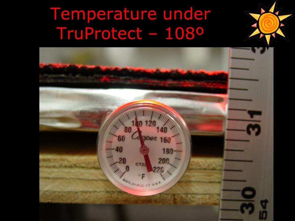 Temperature under TruProtect – 108º