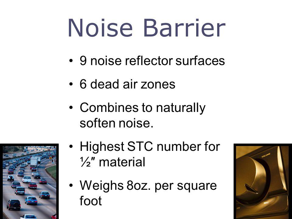 Noise Barrier 9 noise reflector surfaces 6 dead air zones