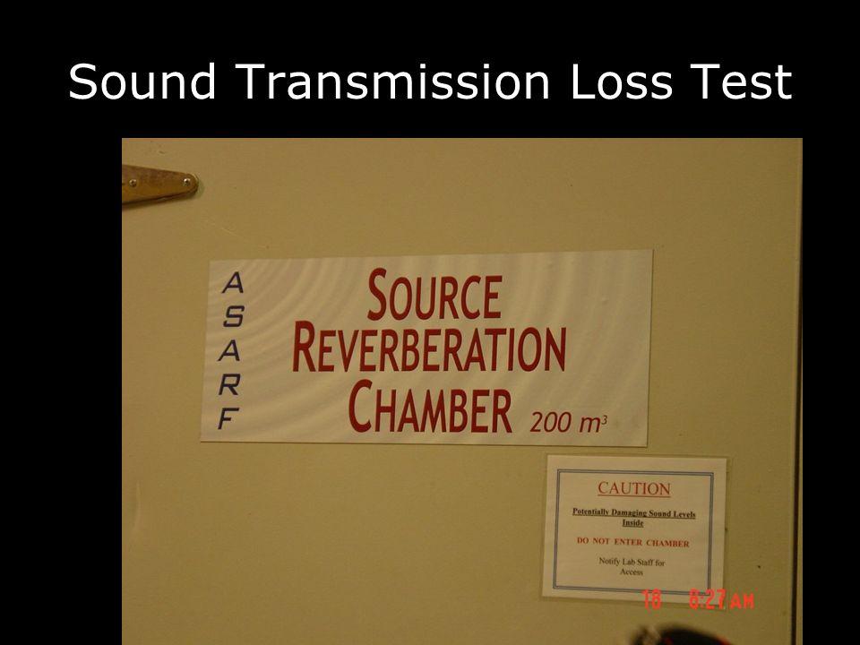 Sound Transmission Loss Test
