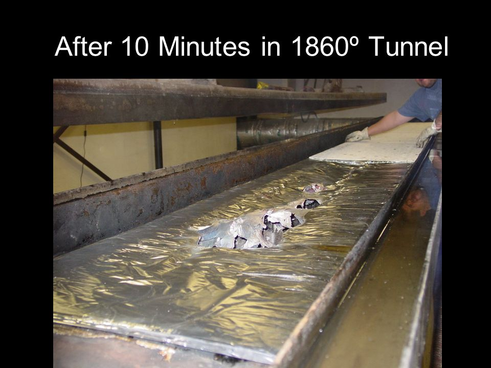 After 10 Minutes in 1860º Tunnel