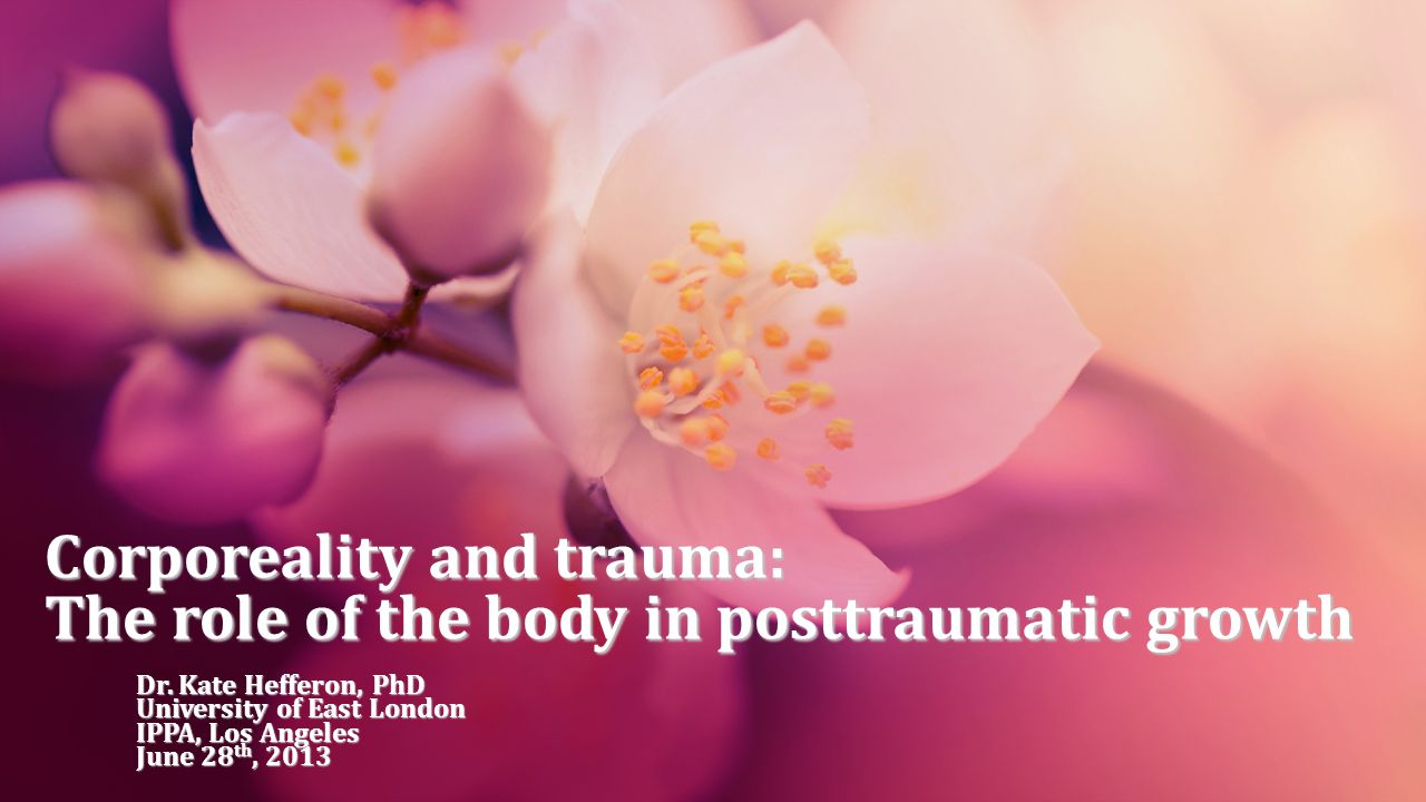 Corporeality and trauma: The role of the body in posttraumatic growth