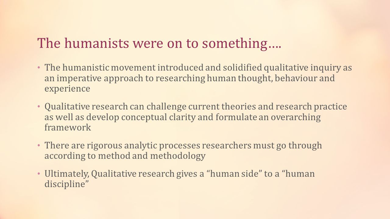The humanists were on to something….