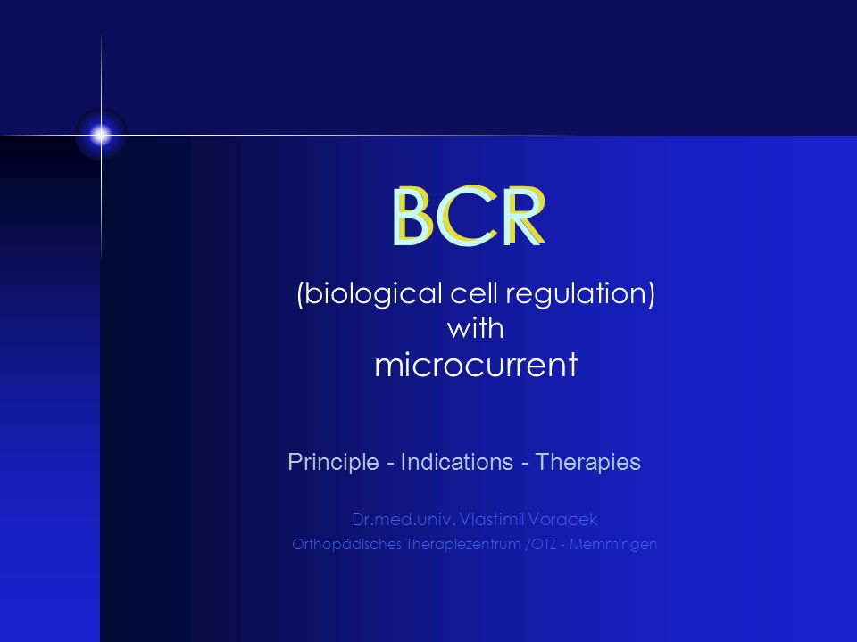 BCR microcurrent (biological cell regulation) with