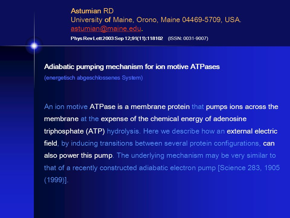 Adiabatic pumping mechanism for ion motive ATPases