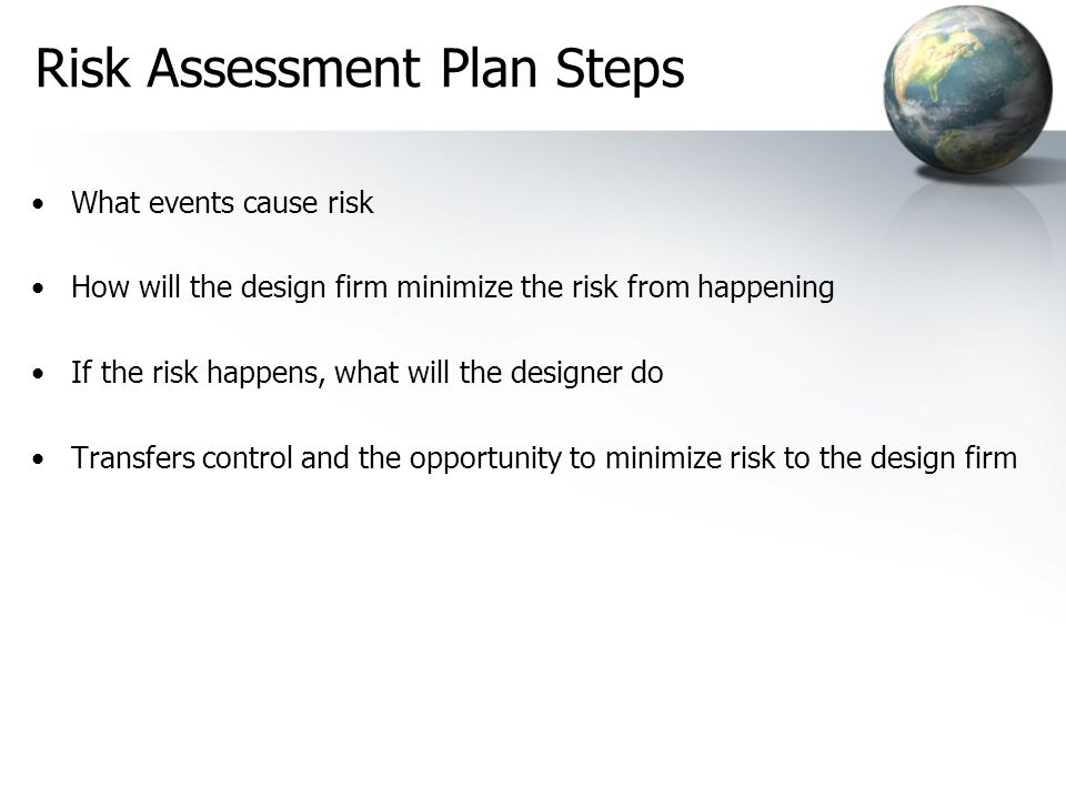 Risk Assessment Plan Steps