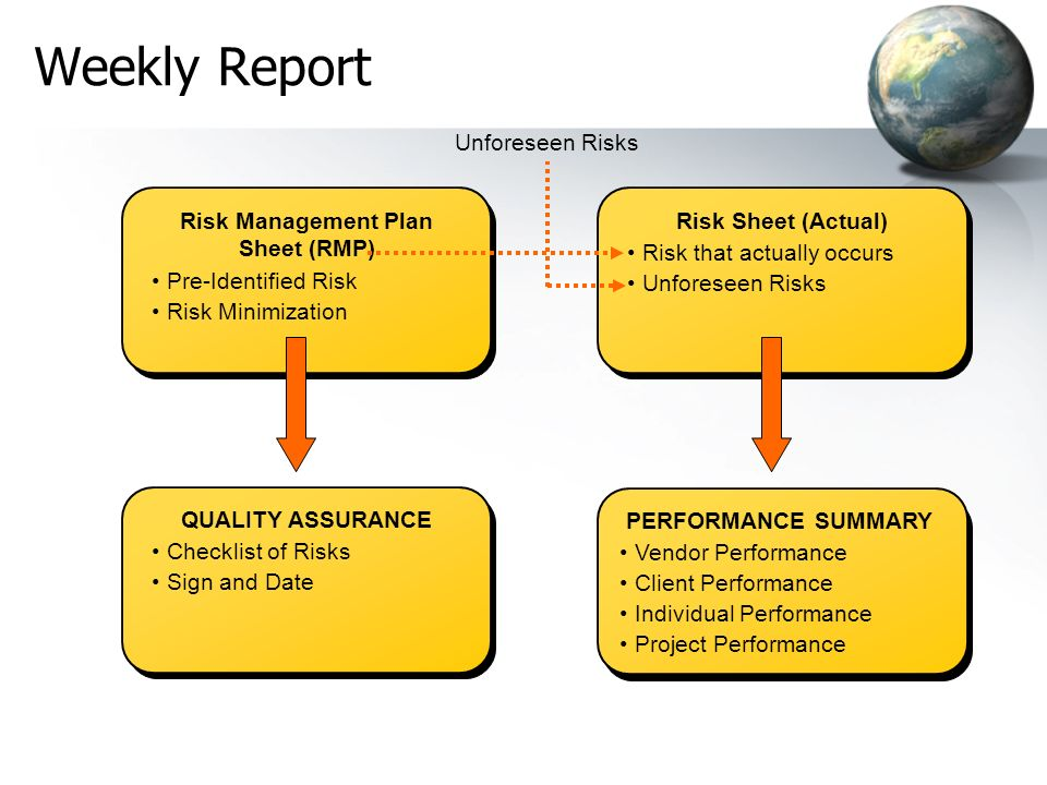 Risk Management Plan Sheet (RMP)