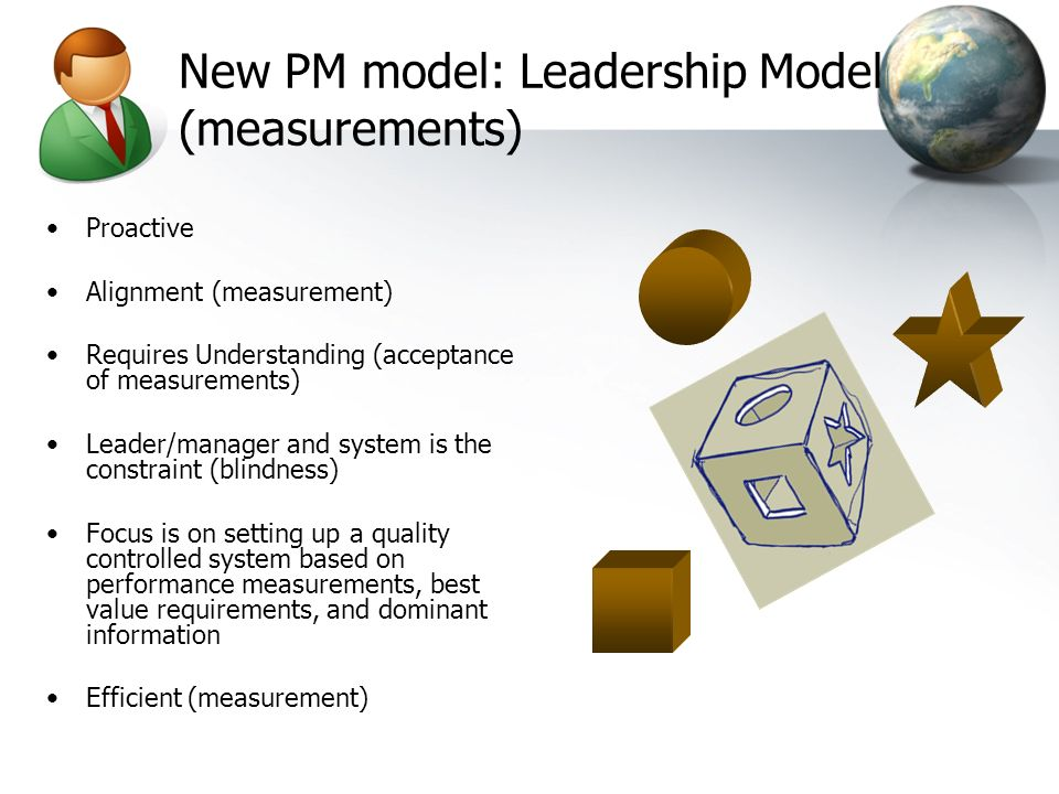 New PM model: Leadership Model (measurements)