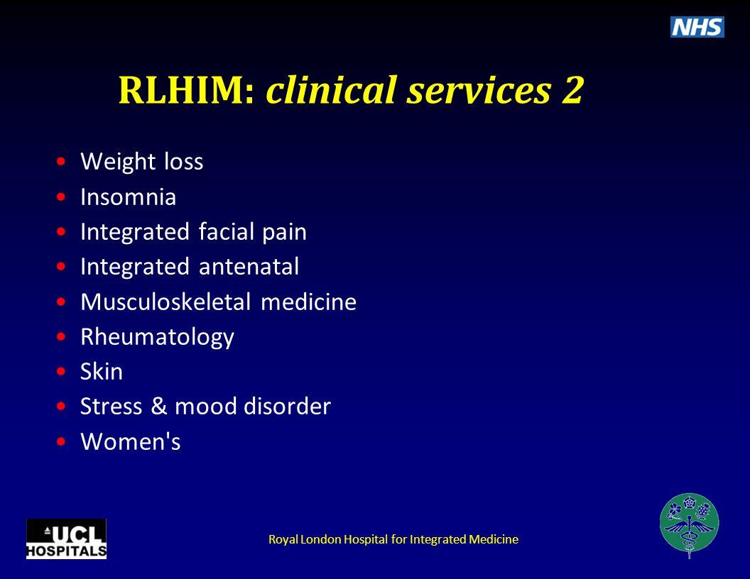 RLHIM: clinical services 2