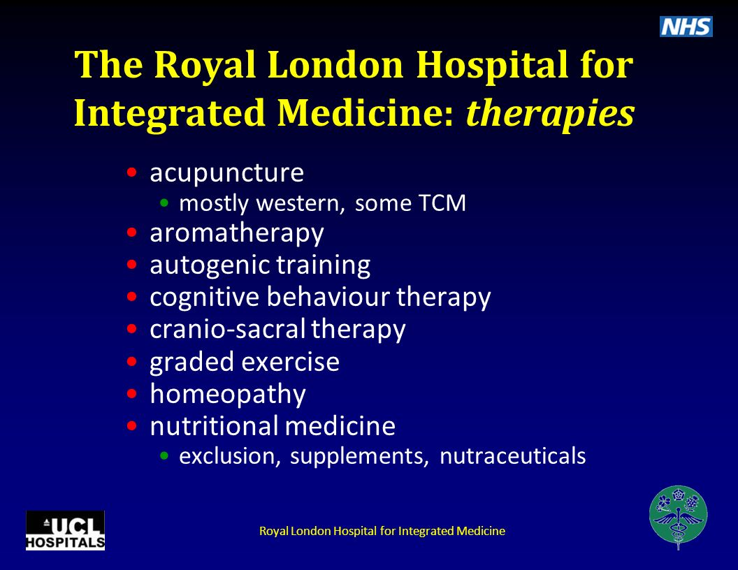 The Royal London Hospital for Integrated Medicine: therapies