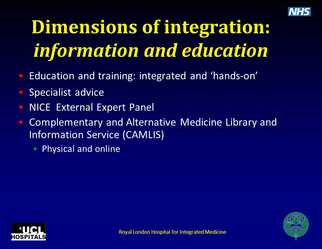 Dimensions of integration: information and education