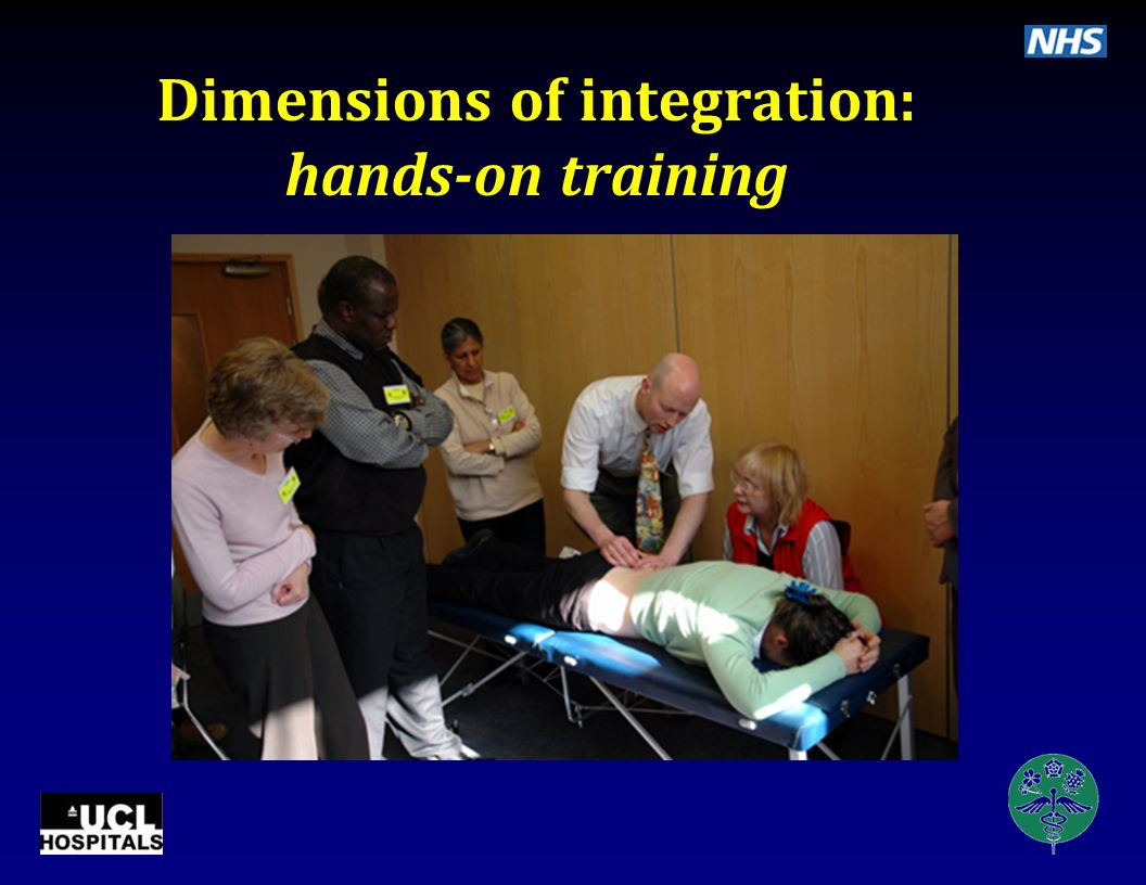 Dimensions of integration: hands-on training