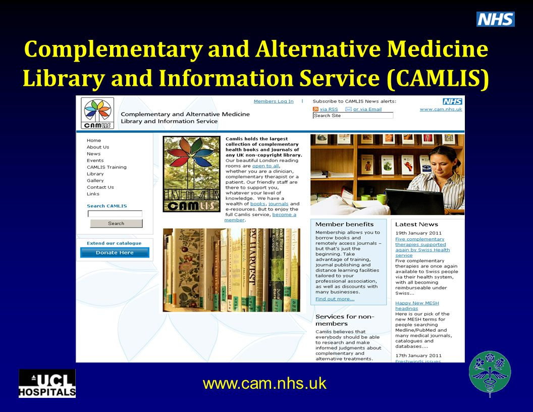 Complementary and Alternative Medicine Library and Information Service (CAMLIS)
