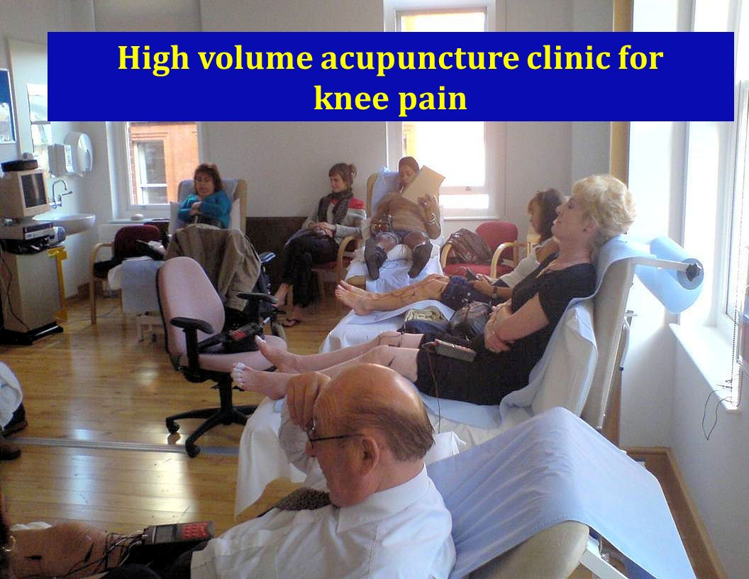 High volume acupuncture clinic for