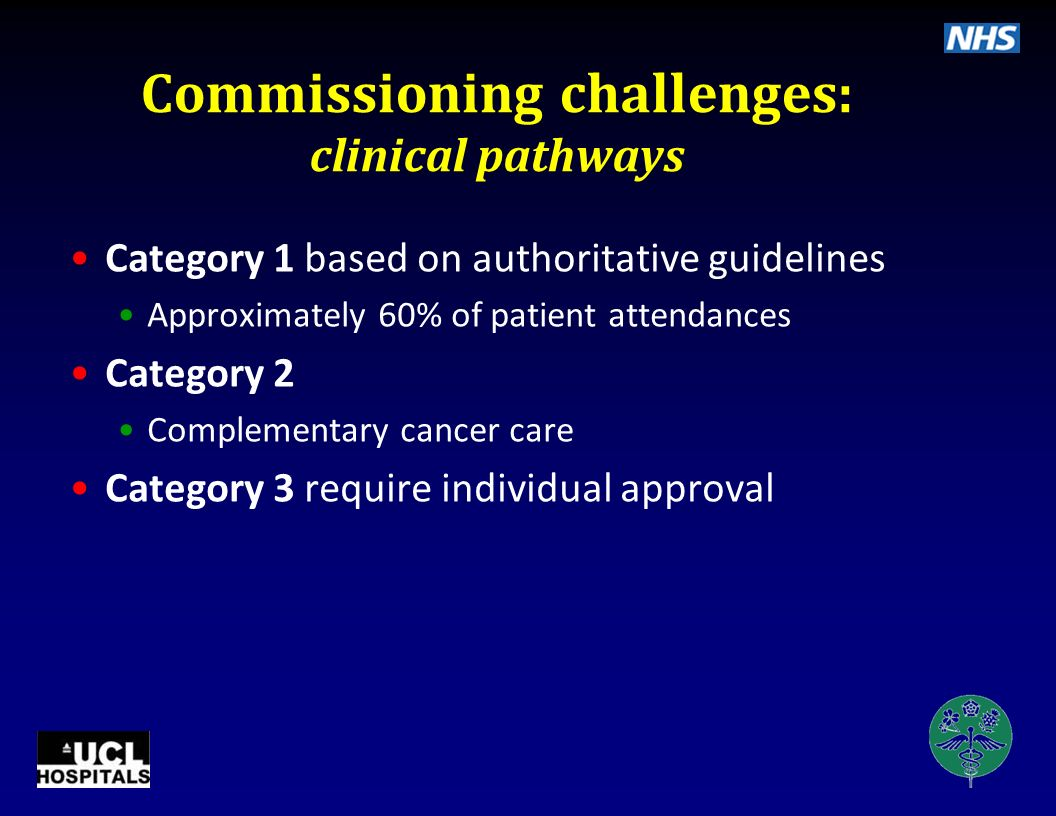 Commissioning challenges: clinical pathways