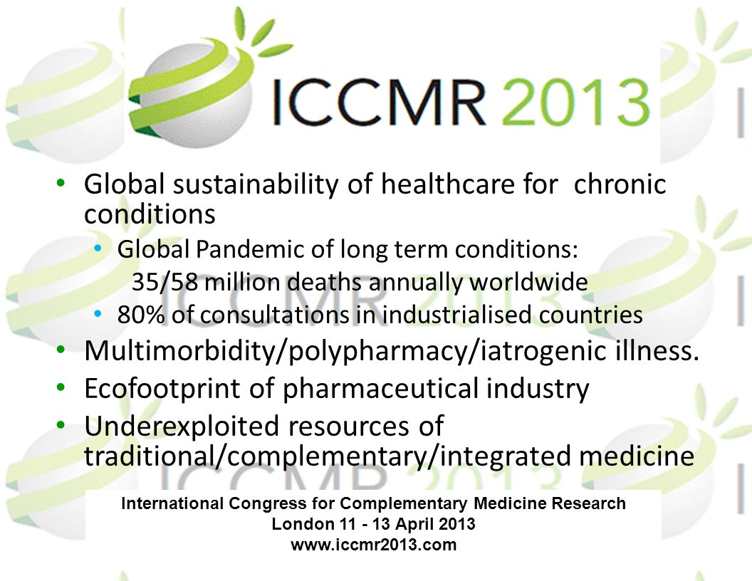 International Congress for Complementary Medicine Research