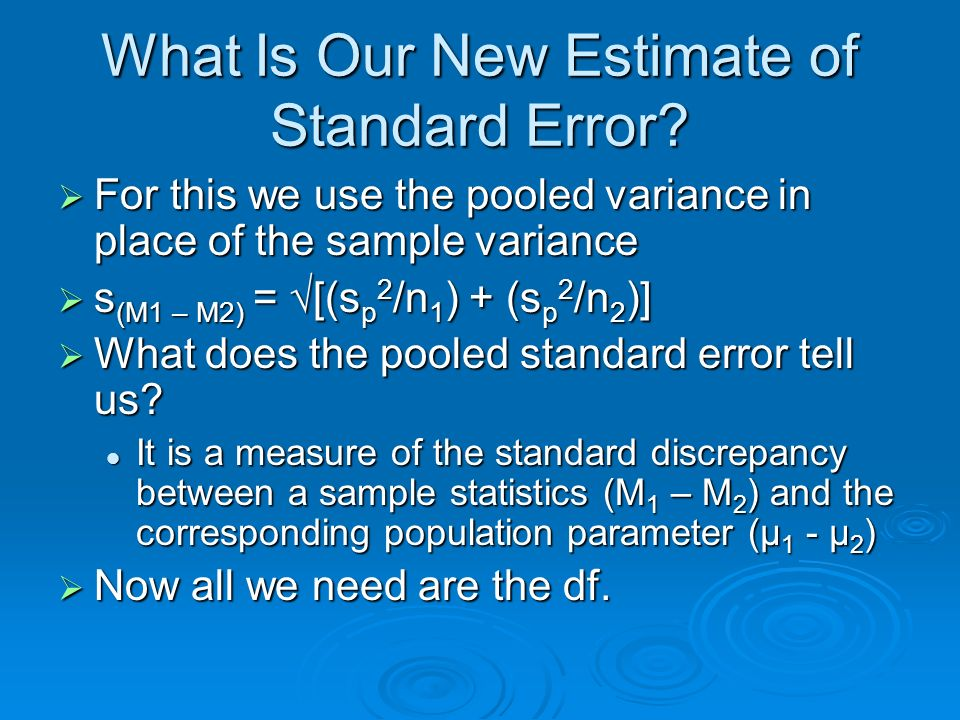 What Is Our New Estimate of Standard Error