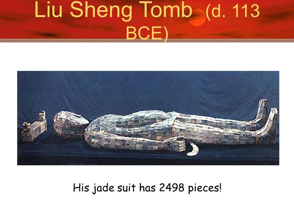 His jade suit has 2498 pieces!