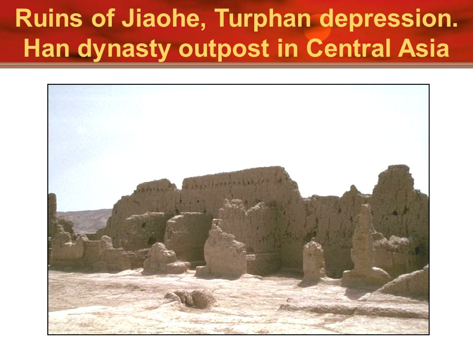 Ruins of Jiaohe, Turphan depression