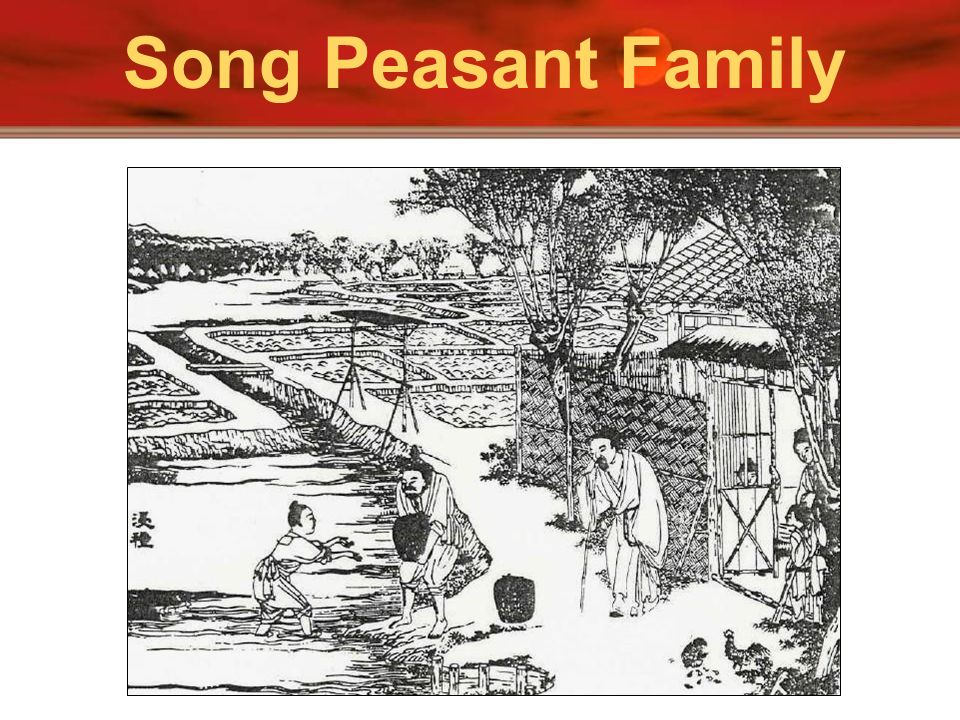 Song Peasant Family Above is a picture of Suzhou in Jiangsu province showing houses along the Grand Canal.