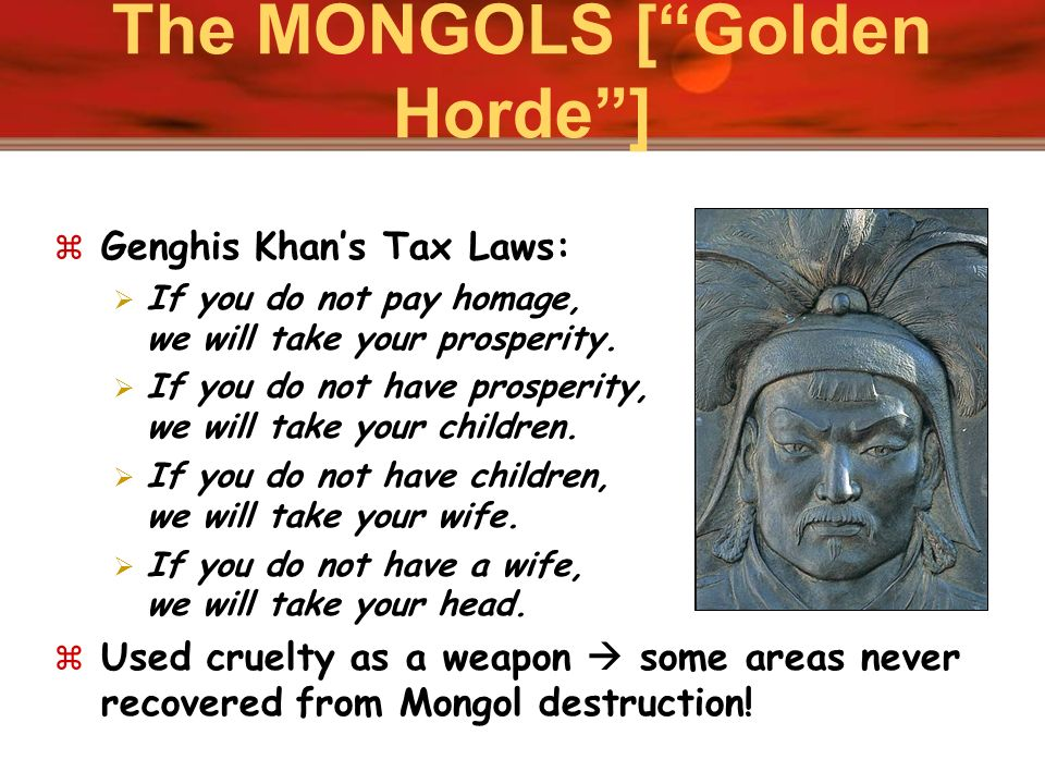 The MONGOLS [ Golden Horde ]
