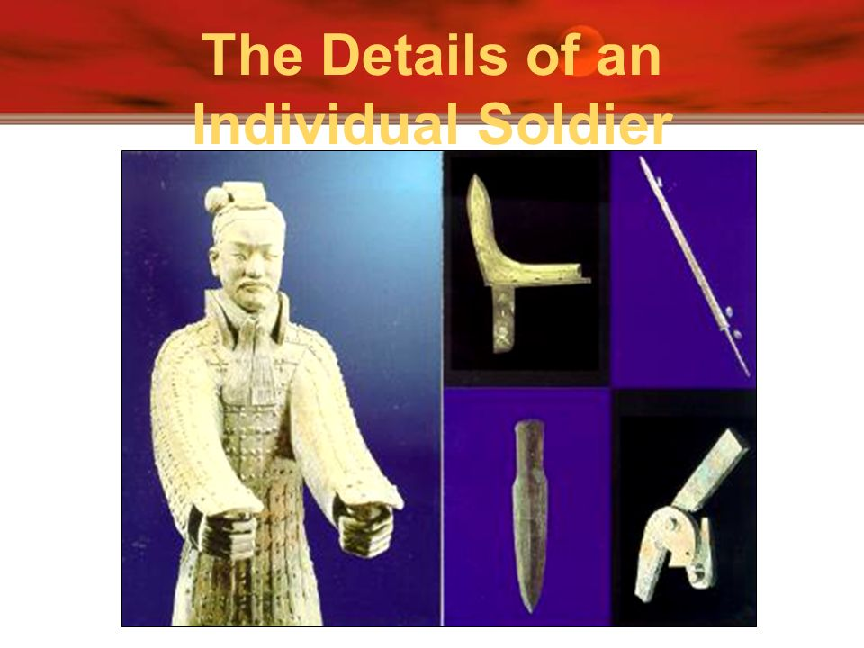 The Details of an Individual Soldier