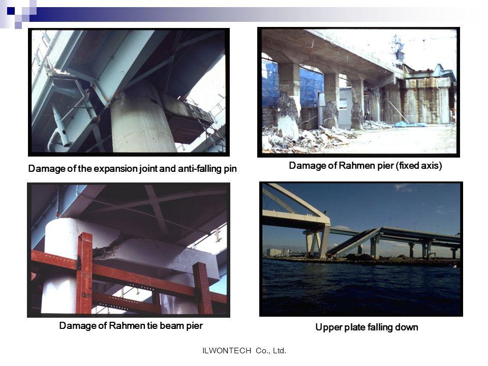 Damage of Rahmen tie beam pier Upper plate falling down