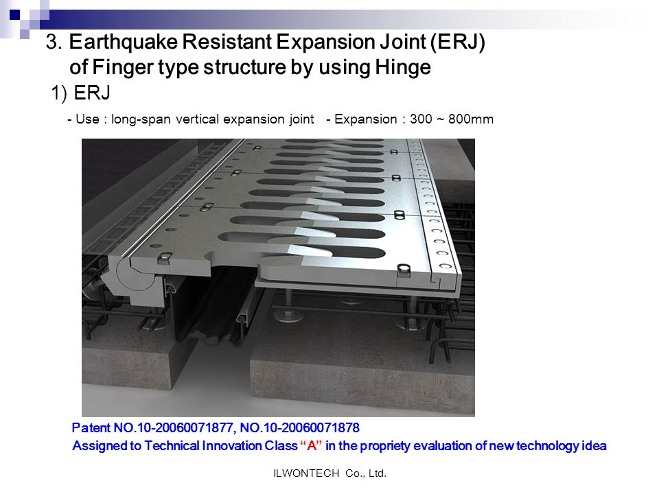 3. Earthquake Resistant Expansion Joint (ERJ) of Finger type structure by using Hinge