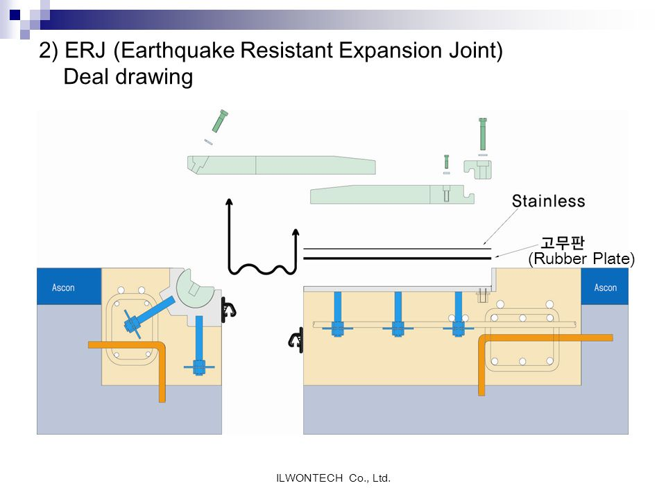 2) ERJ (Earthquake Resistant Expansion Joint) Deal drawing
