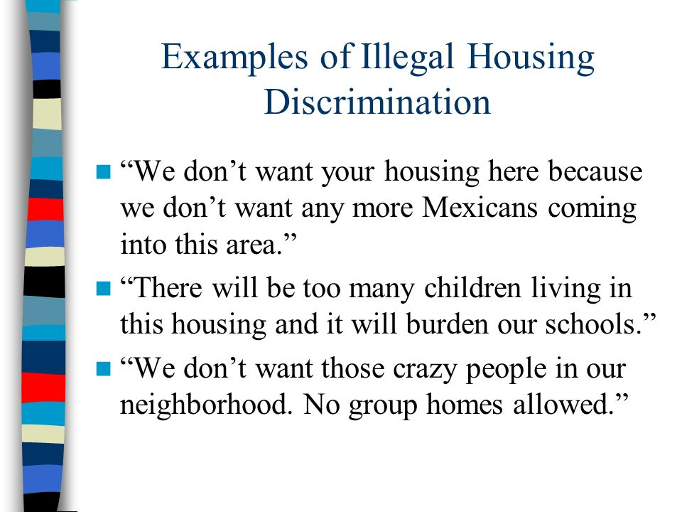 Examples of Illegal Housing Discrimination
