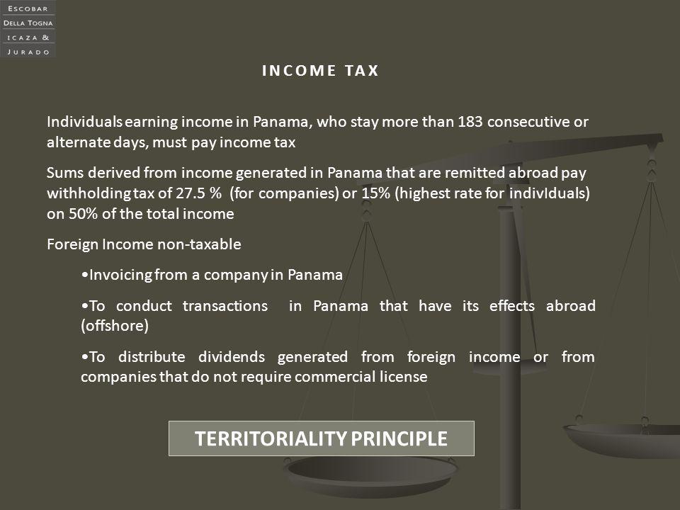 TERRITORIALITY PRINCIPLE
