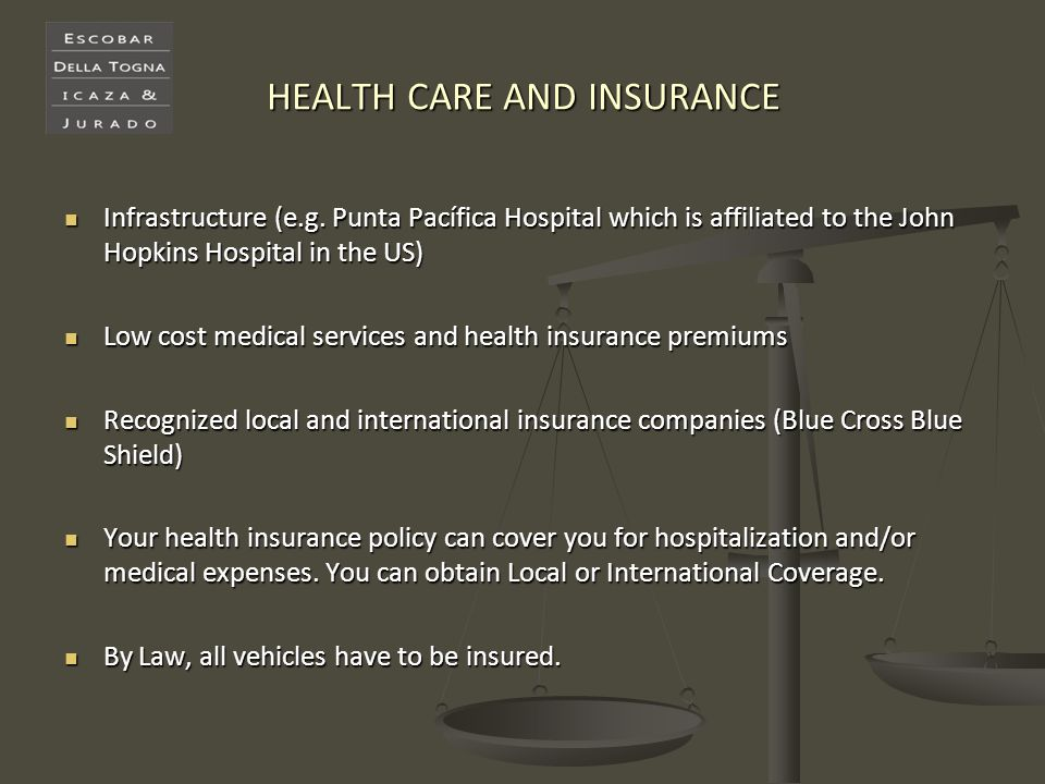 HEALTH CARE AND INSURANCE